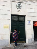 Embajada de Mx en Madrid 17.9.2014 protesta detencion Yaqui