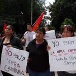 Adherentes a la Sexta Delcaracion de La Selva Lacandona durante mitin del Sub Comandante Insurgente Marcos del EZLN en la ciudad de Sayula en el estado de Jalisco. Foto: Moysés Zúñiga Santiago.
