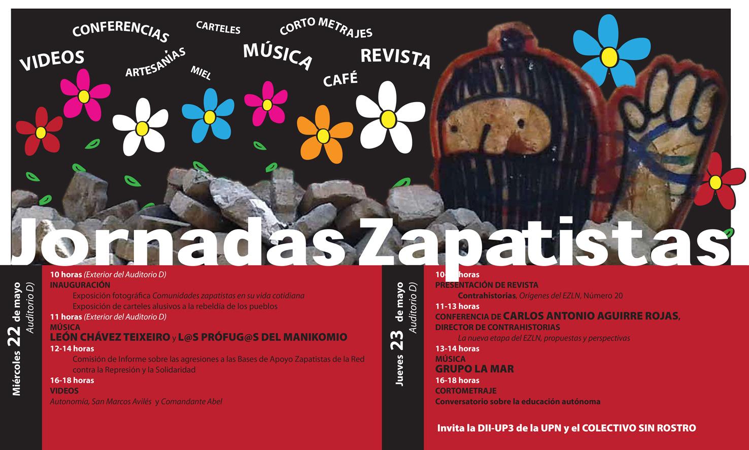 jornadas zapatistas en la UPN