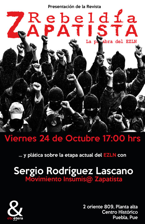 presentación de Rebeldía Zapatista