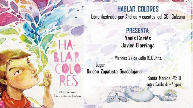 """Presentación del libro """"Hablar colores"""" en Rincón Zapatista de ..."""