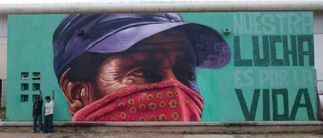 """Mural Zapatista « Enlace Formato """"miradas Zapatistas"""" Gran XikuPZ"""