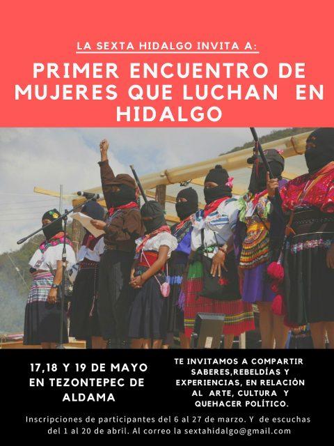 En De Luchan Que Primer « Encuentro Mujeres Enlace Hidalgo Zapatista PZTXiwulOk