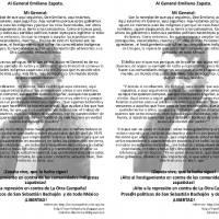 Carta volante Zapata